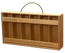 Mosaic 6-Bottle Wood Crate